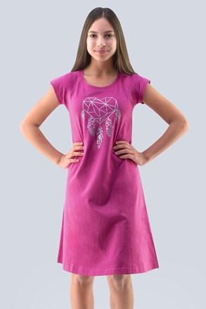 Dívčí noční košile Hearts  růžová