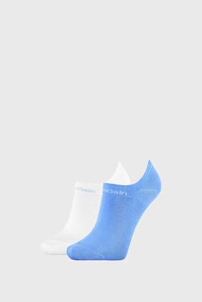 2 PACK dámských ponožek Calvin Klein Leanne modrobílé