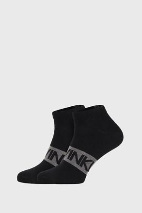2 PACK černých ponožek Calvin Klein Dirk