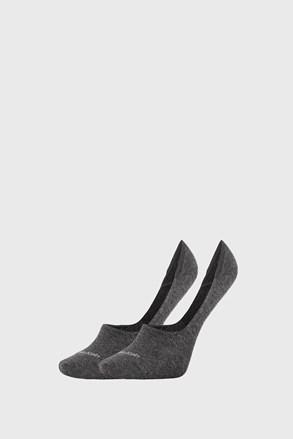 2 PACK dámských ponožek Calvin Klein Jessica šedé