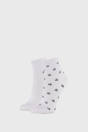 2 PACK dámských bílých ponožek Calvin Klein Gretchen