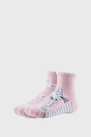 2 PACK dívčích ponožek Floral