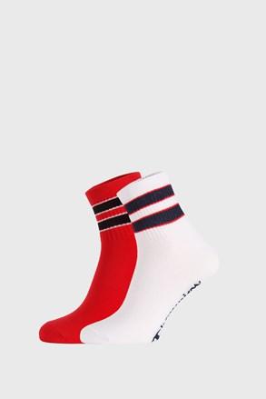 2 PACK červenobílých ponožek Champion Legacy