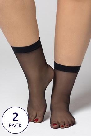 2 PACK punčochových ponožek Plus Size 20 DEN