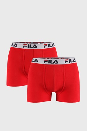 2 PACK czerwonych bokserek FILA