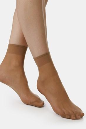 2 PACK dámských punčochových ponožek EVONA Silver 20 DEN