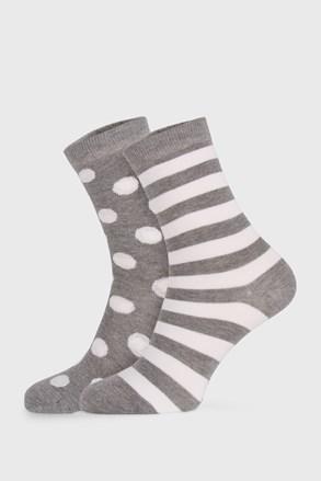 2 PACK сиви дамски чорапи Long