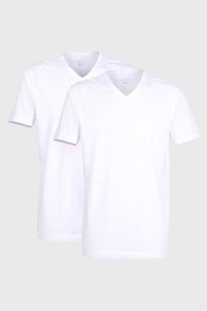 2 PACK pánských triček bugatti V-neck bílé