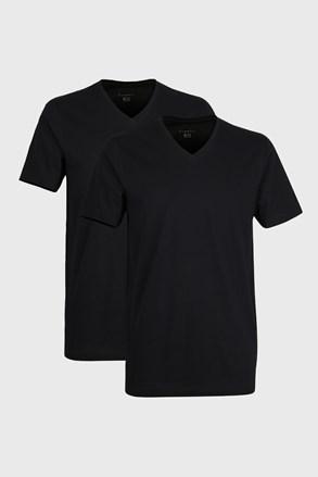 2 PACK pánských triček bugatti V-neck černé