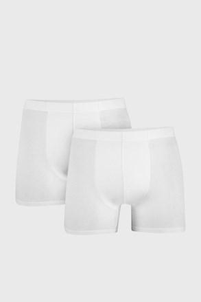 2 PACK bílých boxerek Uomo Cotton