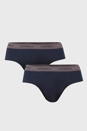 2 PACK modrých slipů Uomo Comfort