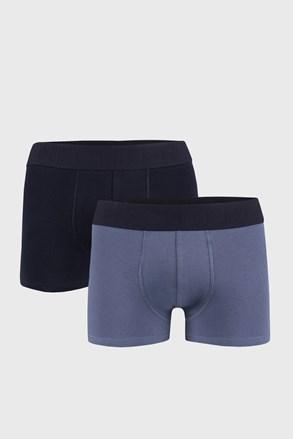 2 PACK modrých boxerek Mess