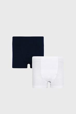 2 PACK modrobílých chlapeckých boxerek Basic