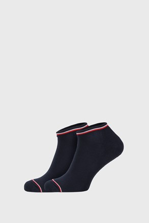 2 PACK modrých ponožek Tommy Hilfiger Iconic Sneaker