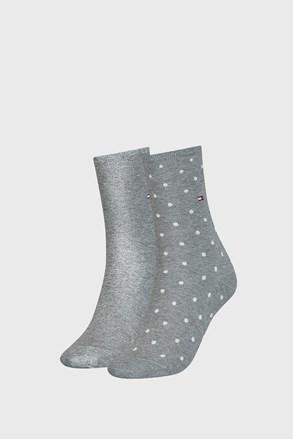 2 PACK dámských ponožek Tommy Hilfiger Dot Grey