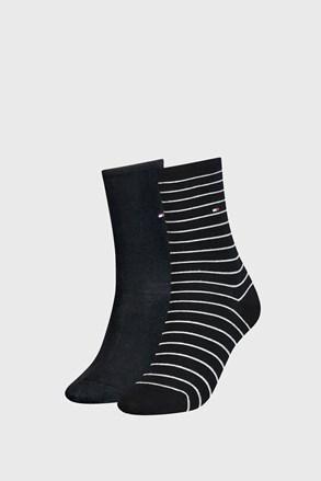 2 PACK dámských ponožek Tommy Hilfiger Small Stripe Black