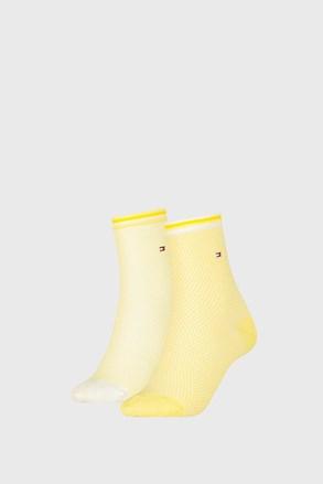 2 PACK dámských ponožek Tommy Hilfiger Honeycomb Yellow