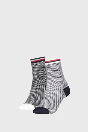 2 PACK dámských ponožek Tommy Hilfiger Honeycomb Navy