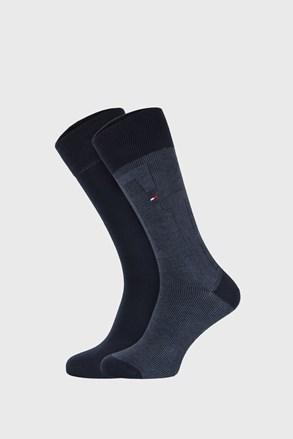 2 PACK tmavě modrých ponožek Tommy Hilfiger Rib