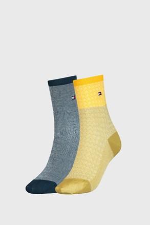 2 PACK dámských ponožek Tommy Hilfiger Argyle