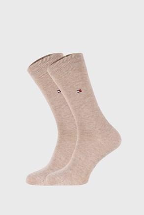 2 PACK béžových ponožek Tommy Hilfiger Classic