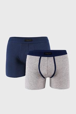 2 PACK modrošedých boxerek
