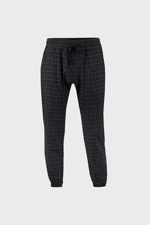 Kostkované černé kalhoty Pj Drake