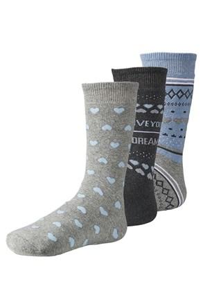 3 pack hřejivých dámských ponožek Live