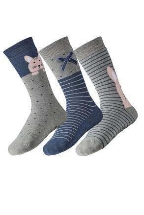 3 pack dámských hřejivých ponožek Rina