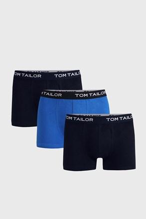 3 PACK modrých boxerek Tom Tailor Jonas