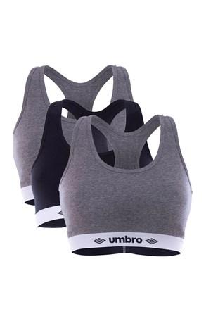 3PACK dámských sportovních podprsenek Umbro A1