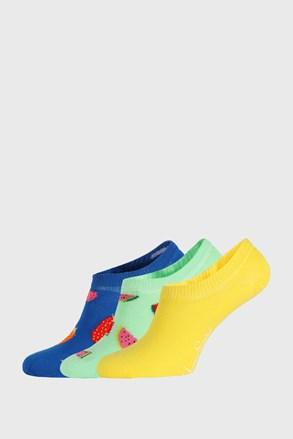 3 PACK ponožek Happy Socks Fruits No Show