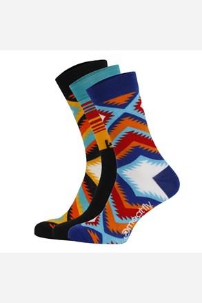 3 PACK barevných ponožek Meatfly Arizona