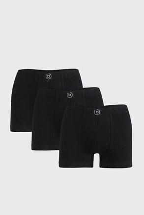 3 PACK černých boxerek bugatti Finian