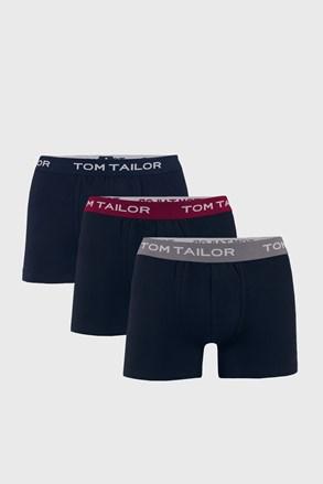 3 PACK modrých boxerek Tom Tailor