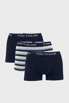 3 PACK modrých boxerek Tom Tailor Elastic