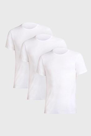 3 PACK bílých triček Uomo Comfort