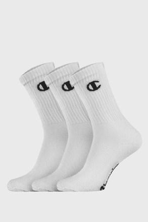 3 PACK vysokých bílých ponožek Champion