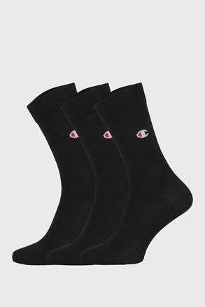 3 PACK vysokých černých ponožek Champion