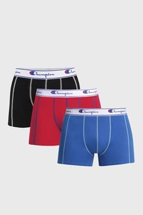 3 PACK pánských barevných boxerek Champion