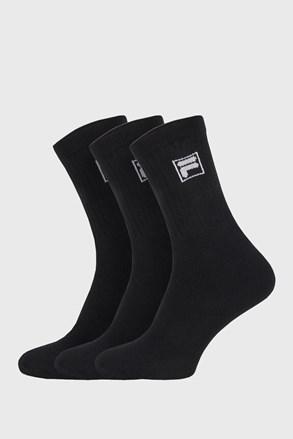 3-pack černých vysokých ponožek s logem FILA