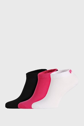 3 PACK къси чорапи FILA Black Fuxia