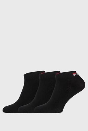 3 PACK černých nízkých ponožek FILA