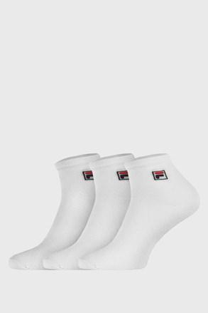 FILA fehér bokazokni, 3 pár egy csomagban