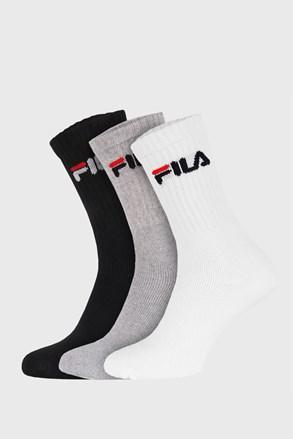 3-pack tří barev vysokých ponožek FILA