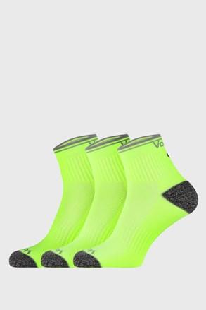 3 PACK sportovních ponožek Ray neonově žlutý