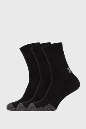 3 PACK vysokých černých ponožek Under Armour