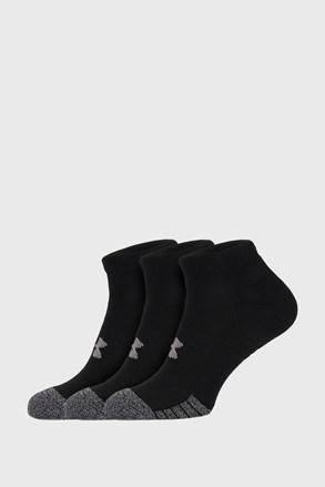 3 PACK černých ponožek Under Armour Locut