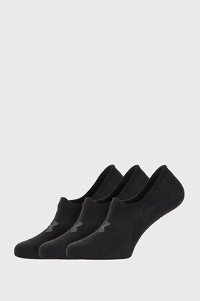 3 PACK černých nízkých ponožek Under Armour