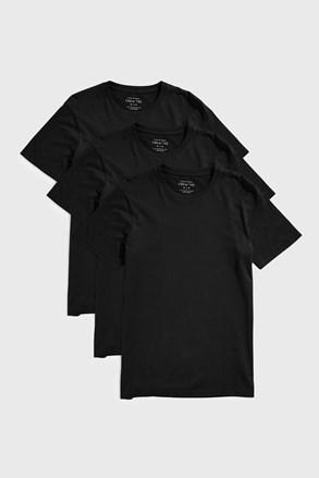 3 PACK černých triček Austin